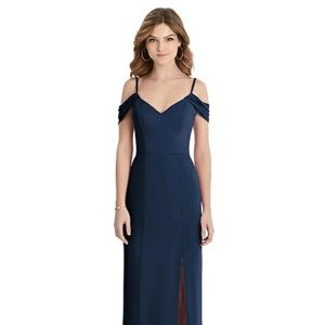 Dessy After Six 1517 Off-the-Shoulder Chiffon Gown